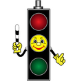Cartoon yellow traffic light vector