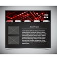 Website template in black and red colors vector
