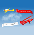 Flying banners vector