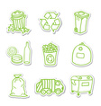 Garbage icon stickers vector