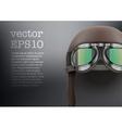 Background of retro aviator pilot helmet with vector
