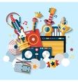 Musical instruments set vector