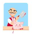 Butcher - cartoon vector