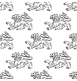 Seamless pattern of a vintage heraldic lion vector