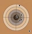 Shooting range target with bullet holes vector