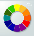 Colorful wheel concept vector