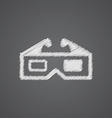 3d movie sketch logo doodle icon vector