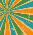 Abstract sunburst background in retro color vector