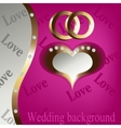 Wedding heart background vector