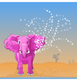 Pink elephant vector