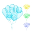 Balloons different colors vector