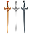 Three swords vector