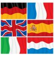 Windy flags vector