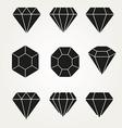 Diamond icon symbol set vector