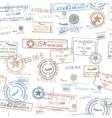 Rubber passport stamps travel symbol vector
