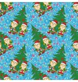 Seamless christmas background babies and tree vector