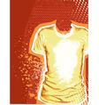 T-shirt grunge background vector