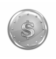 Platinum coin vector