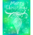 Christmas greeting poster vector