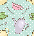 Teapot pattern vector