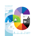 Abstract infographic design minimal circle shape vector