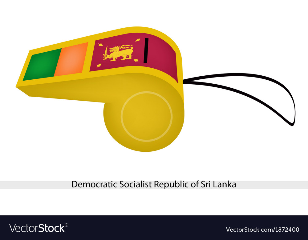 A whistle of sri lanka vector | Price: 1 Credit (USD $1)