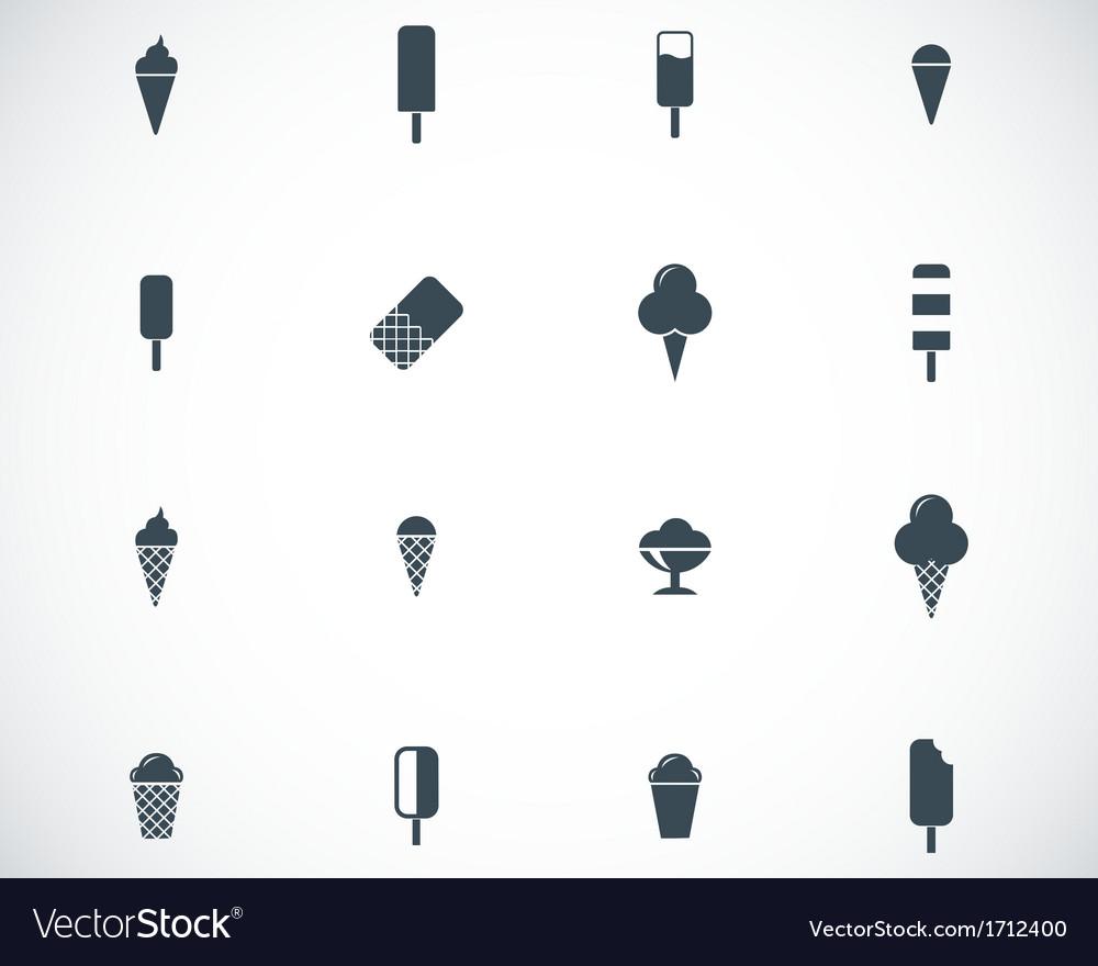 Black ice cream icons set vector | Price: 1 Credit (USD $1)