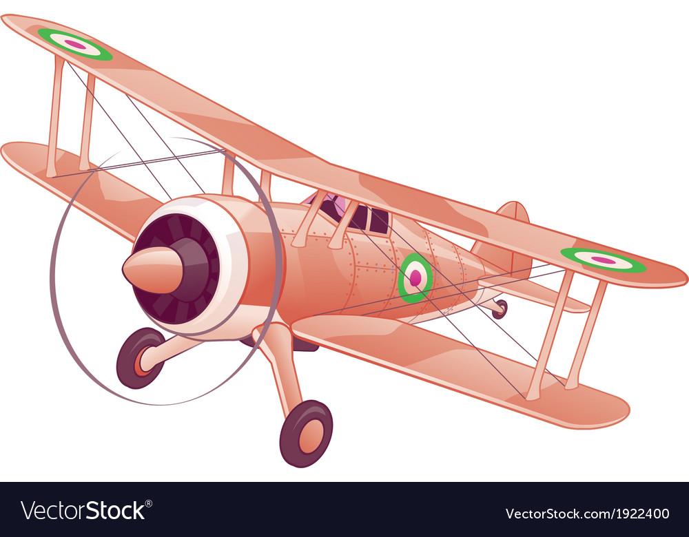 Cartoon biplane vector   Price: 1 Credit (USD $1)
