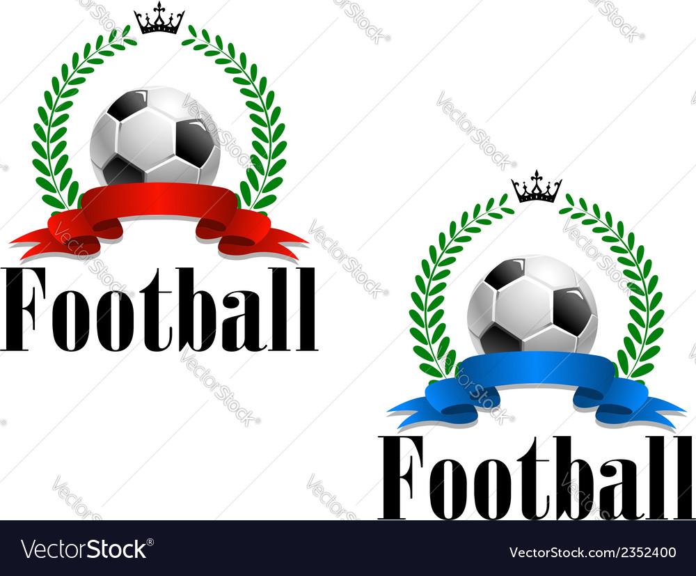 Football emblem or label vector | Price: 1 Credit (USD $1)