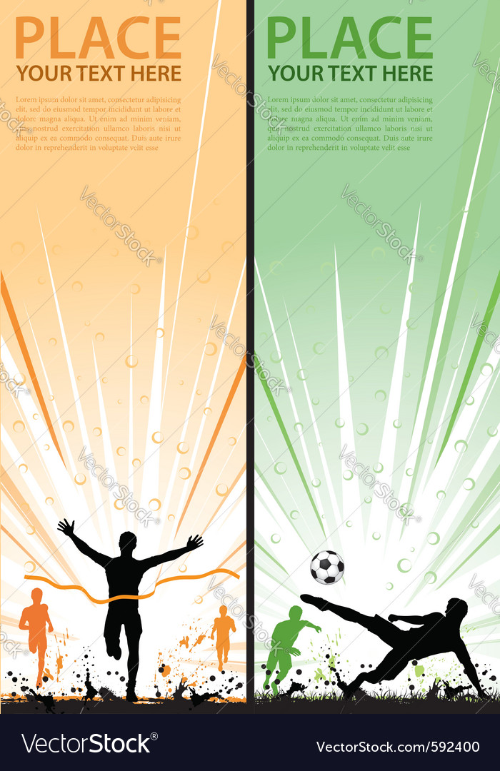 Grunge sport flyer vector | Price: 1 Credit (USD $1)