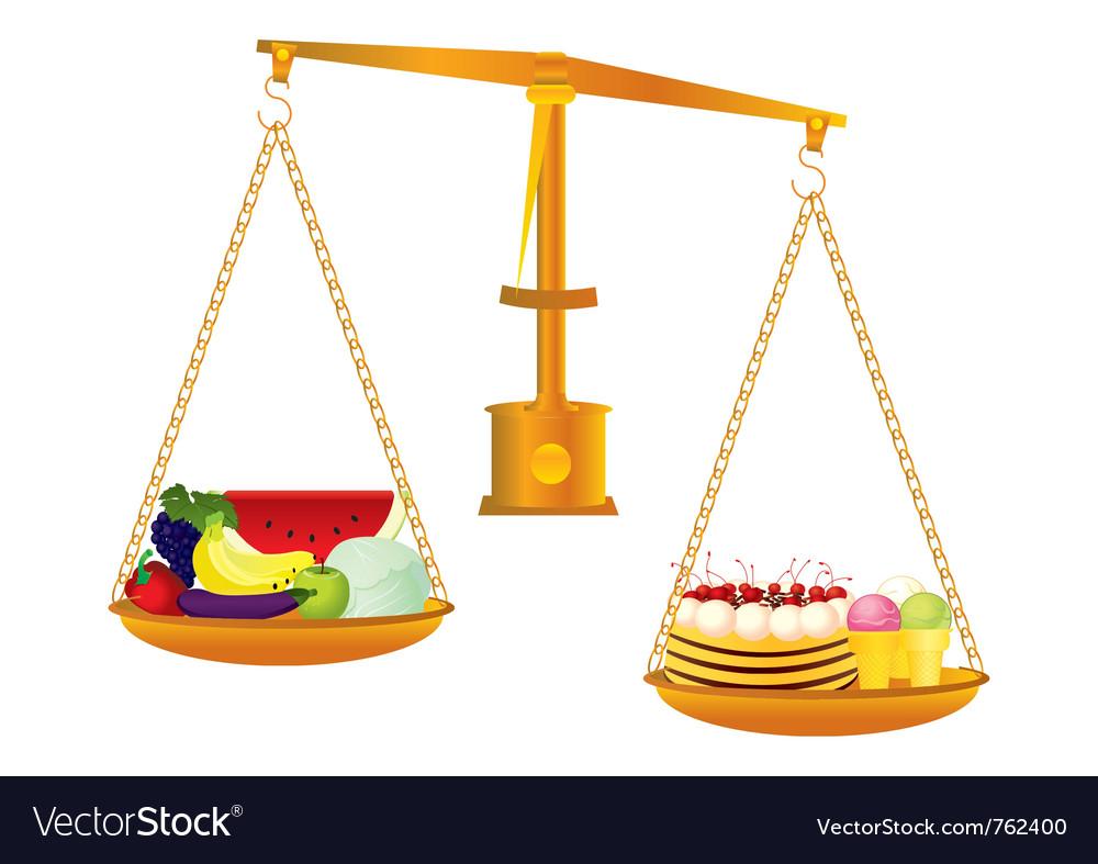 Healthy and unhealthy food vector   Price: 3 Credit (USD $3)