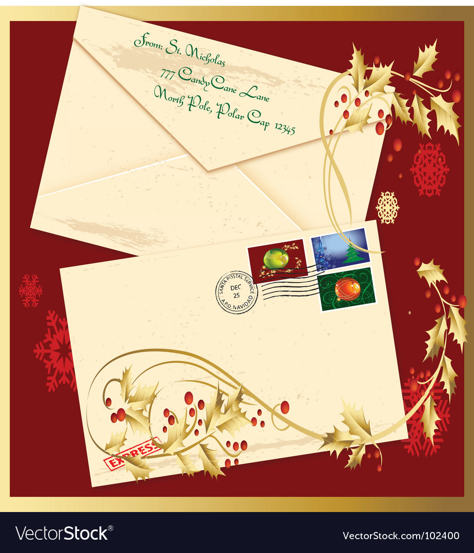 Holiday envelope vector | Price: 1 Credit (USD $1)