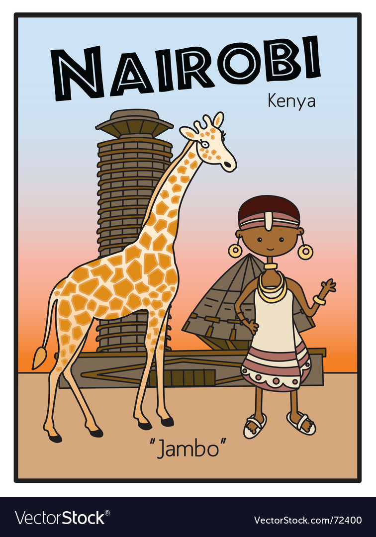 Nairobi kenya vector | Price: 1 Credit (USD $1)