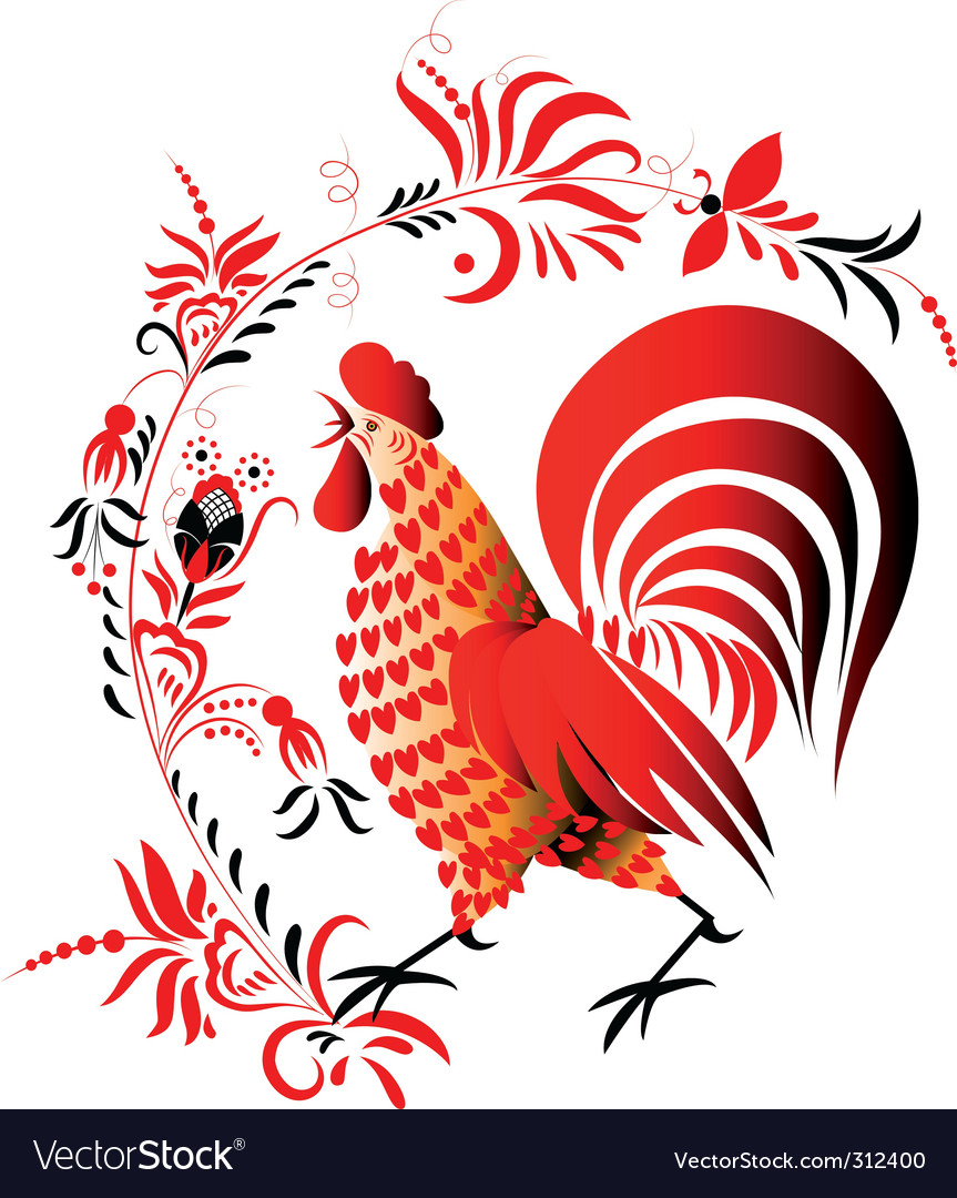 Red cock vector | Price: 1 Credit (USD $1)