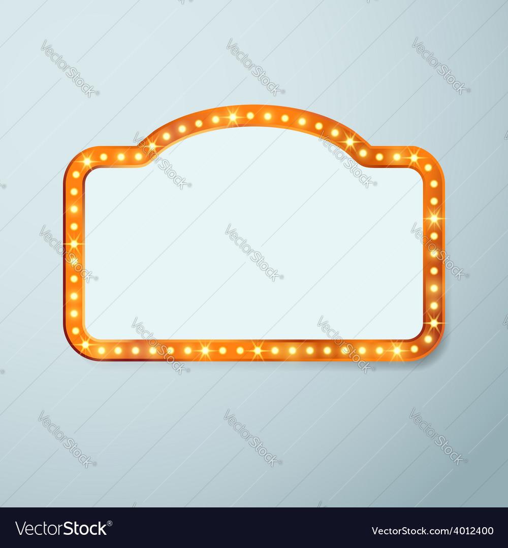 Retro cinema vintage old bulb frame sign vector | Price: 1 Credit (USD $1)