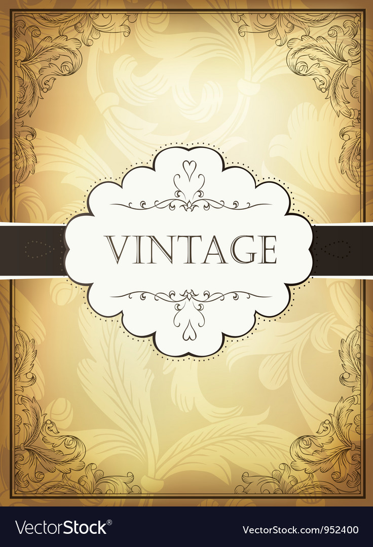 Vintage background with ornamental frame vector | Price: 1 Credit (USD $1)