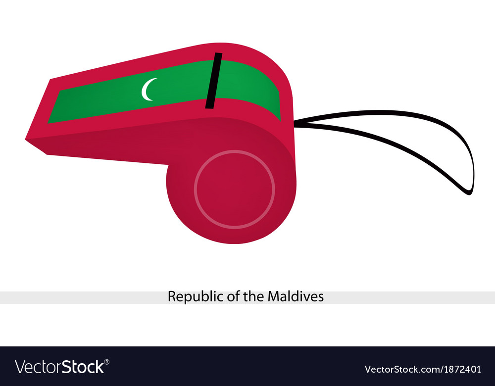 A whistle of republic of the maldives vector | Price: 1 Credit (USD $1)