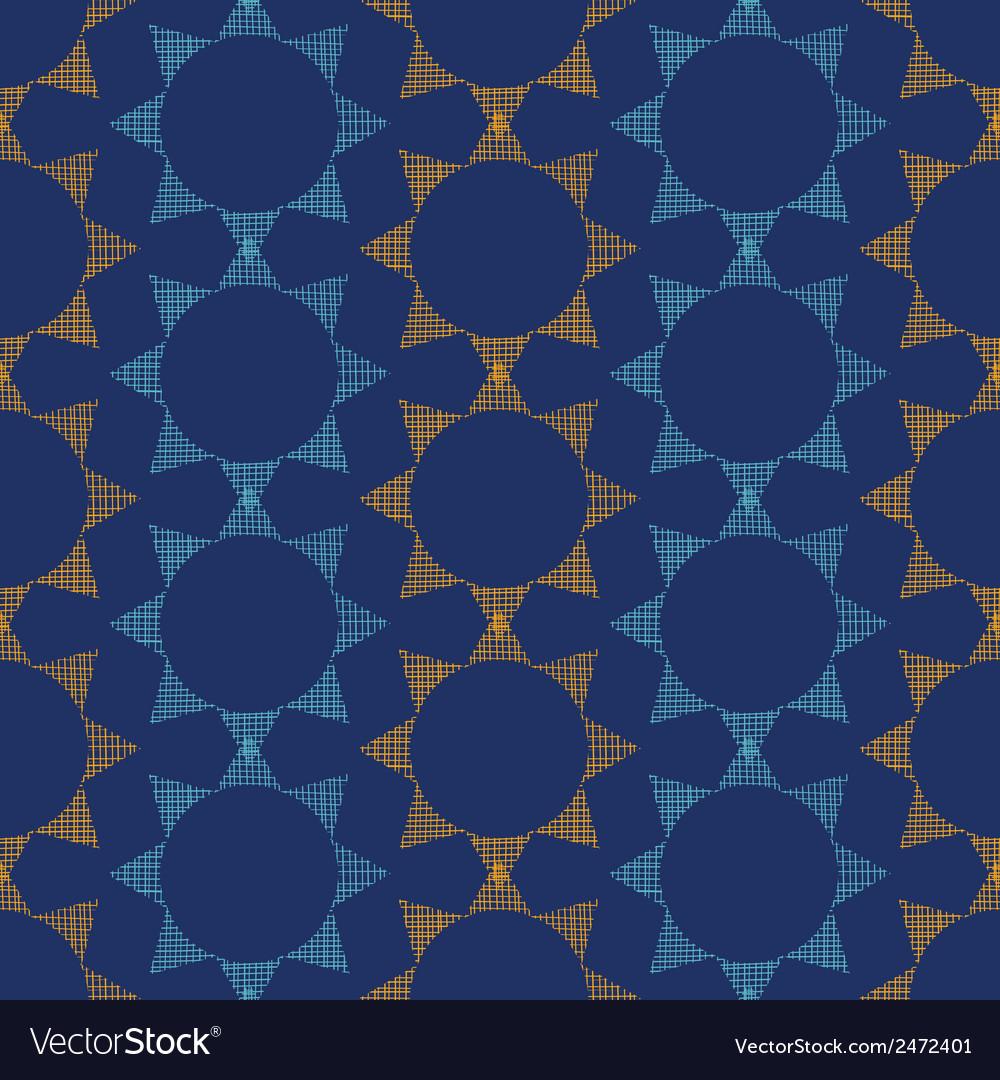 Abstract textile stars on dark geometric seamless vector | Price: 1 Credit (USD $1)