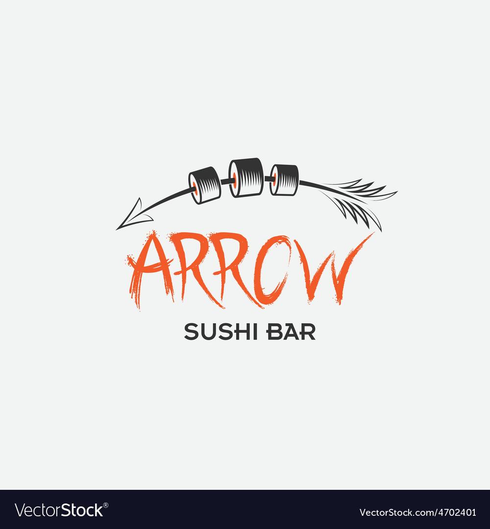 Arrrow sushi bar restaurant vector   Price: 1 Credit (USD $1)