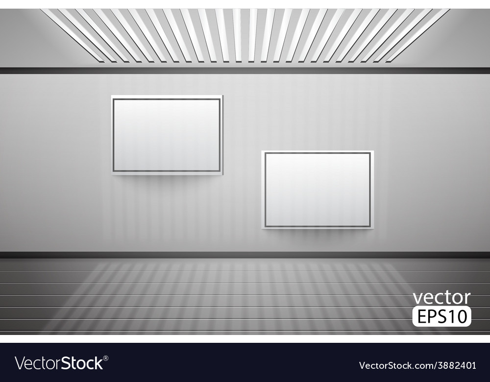 Blank picture on a concrete wall closeup vector | Price: 1 Credit (USD $1)