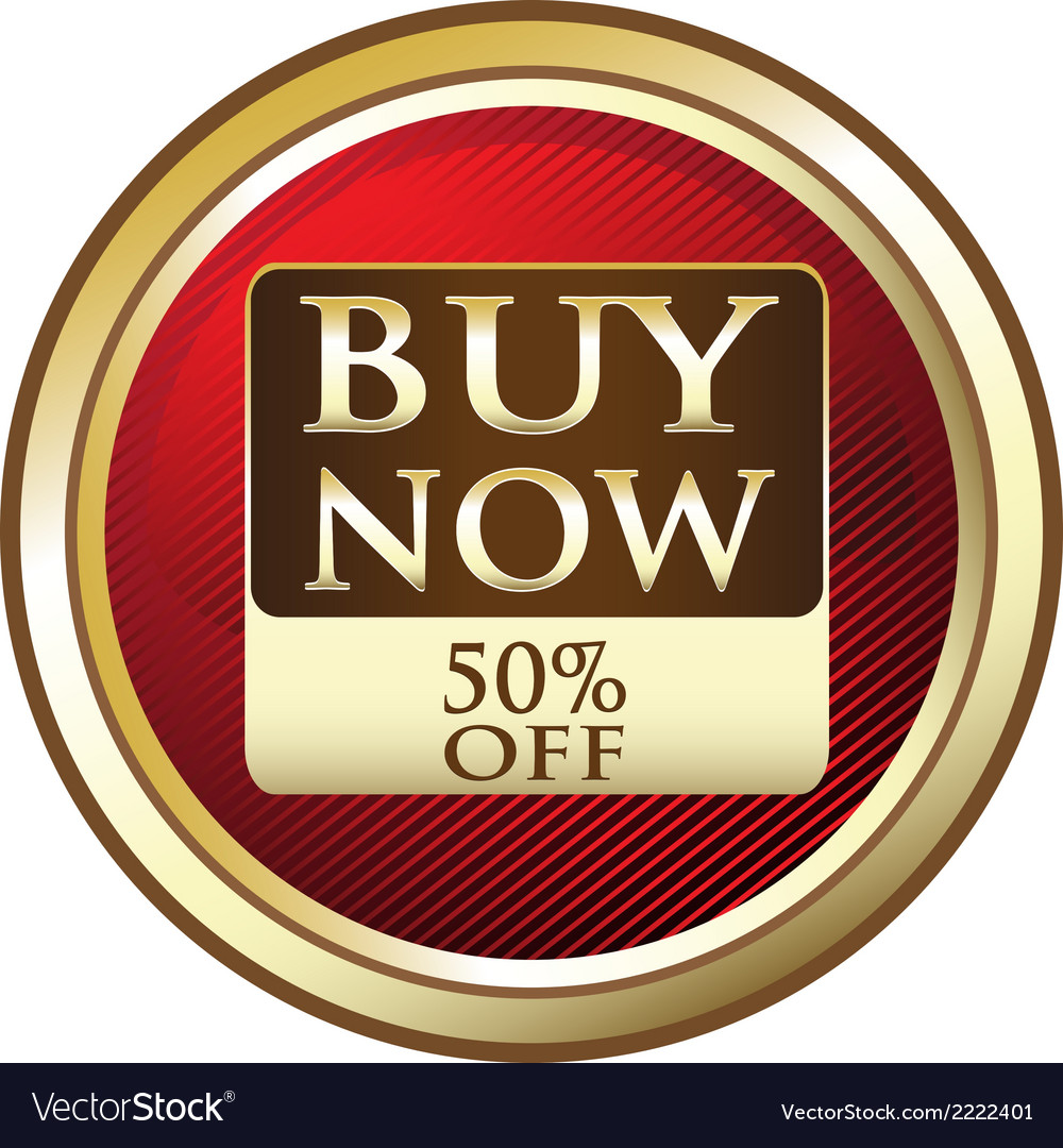 Buy now advertisement label vector | Price: 1 Credit (USD $1)