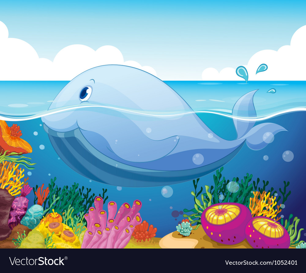 Fish and coral in the sea vector | Price: 3 Credit (USD $3)