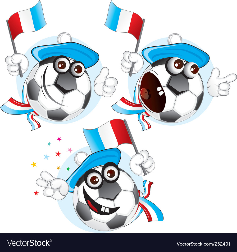 France cartoon ball vector | Price: 1 Credit (USD $1)