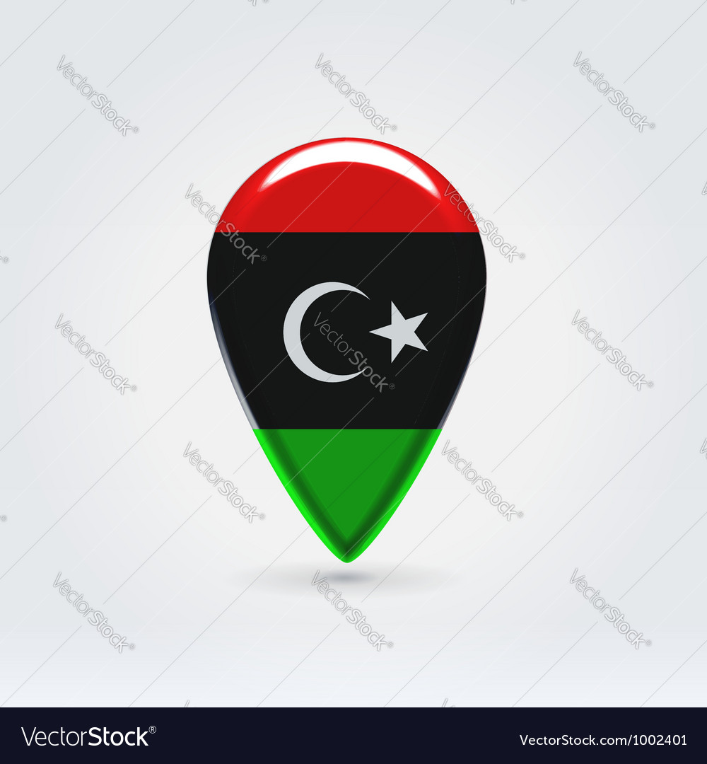 Libyan icon point for map vector | Price:  Credit (USD $)