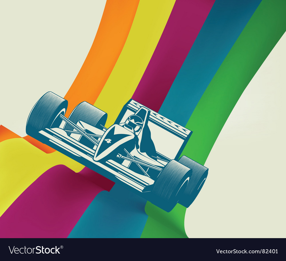 Race car vector | Price: 1 Credit (USD $1)