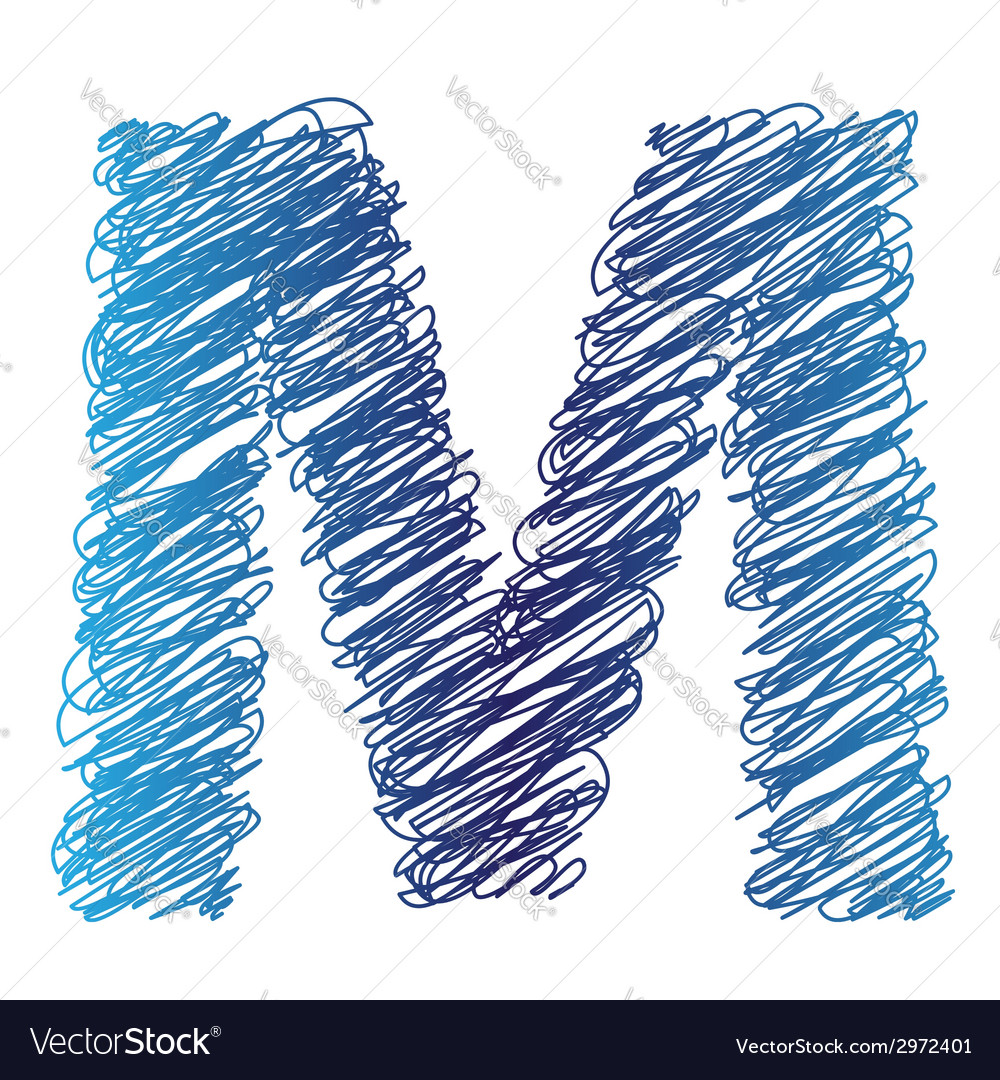 Sketched letter m vector | Price: 1 Credit (USD $1)