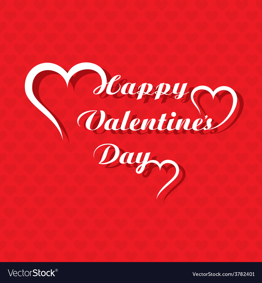 Valentines day greeting card design vector | Price: 1 Credit (USD $1)