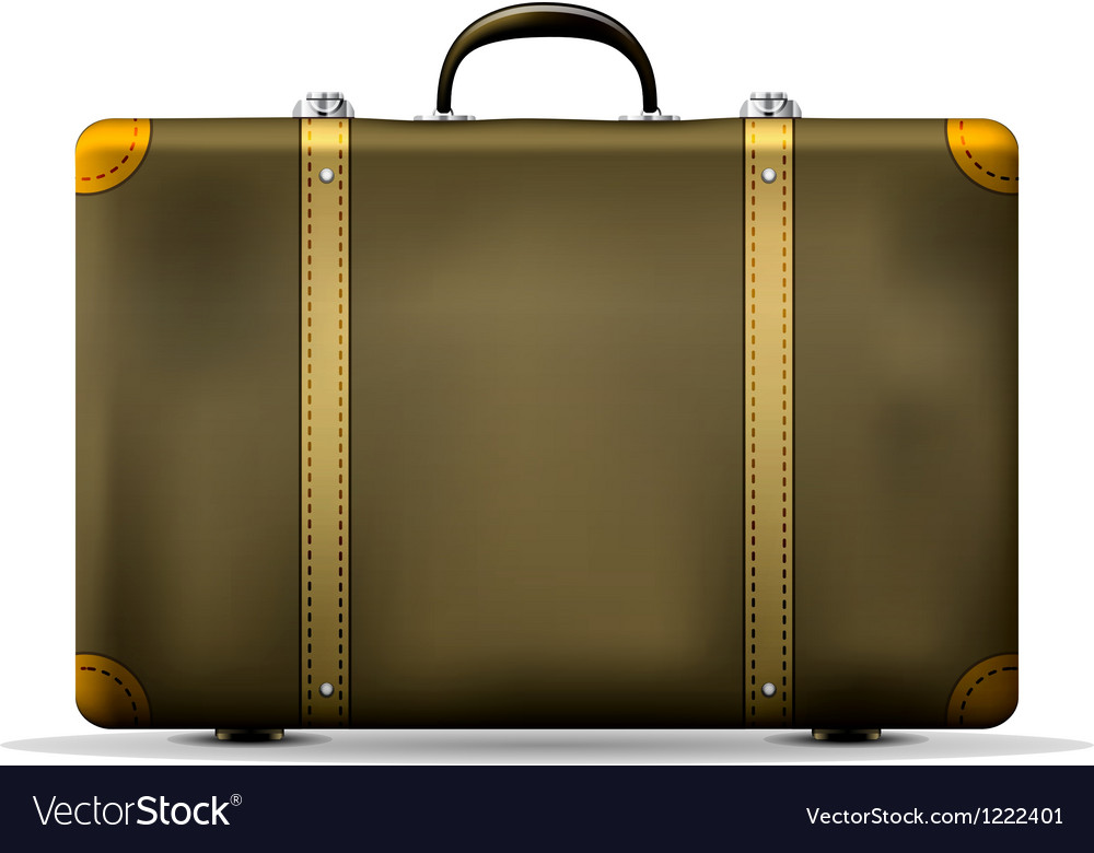 Vintage travel suitcase vector | Price: 3 Credit (USD $3)