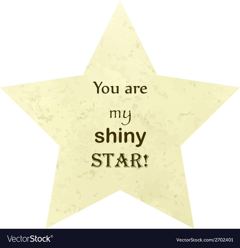 You are my shiny star concept vector | Price: 1 Credit (USD $1)