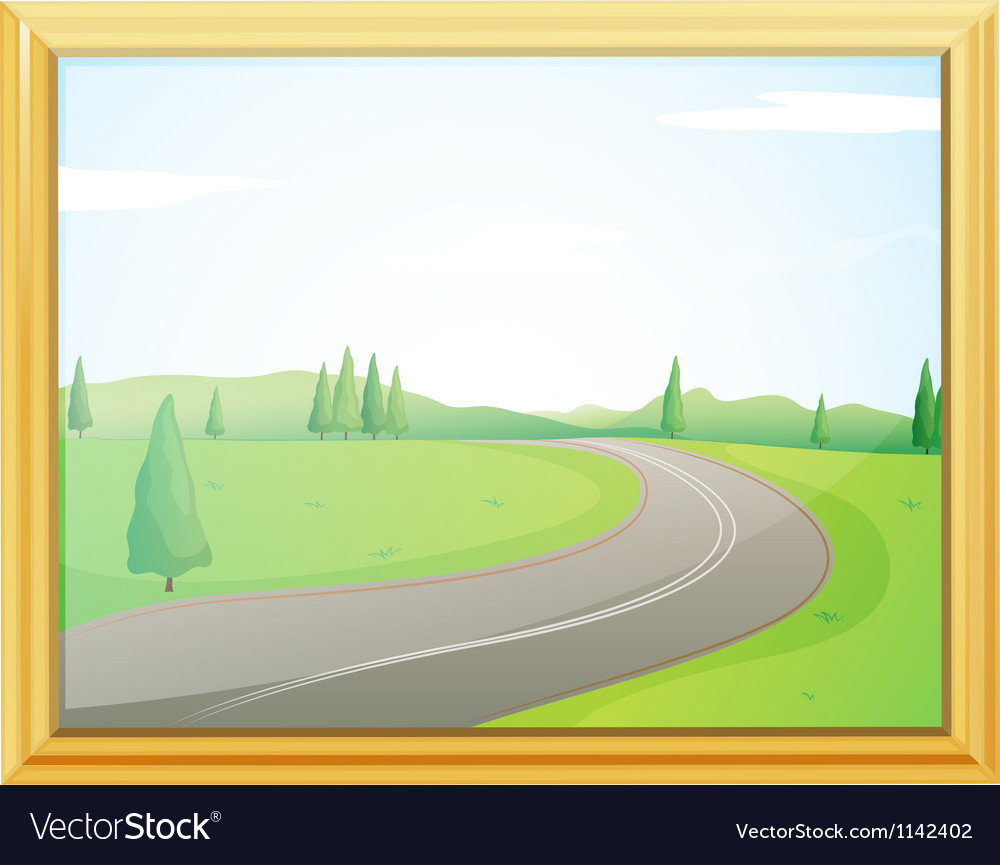 A frame of a road vector   Price: 1 Credit (USD $1)